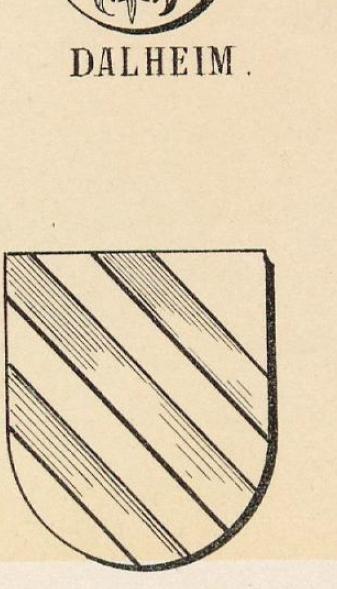 Dalheim Coat of Arms / Family Crest 1