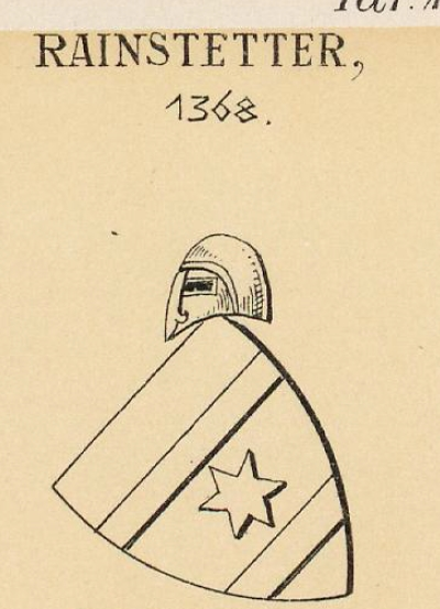 Rainstetter Coat of Arms / Family Crest 0