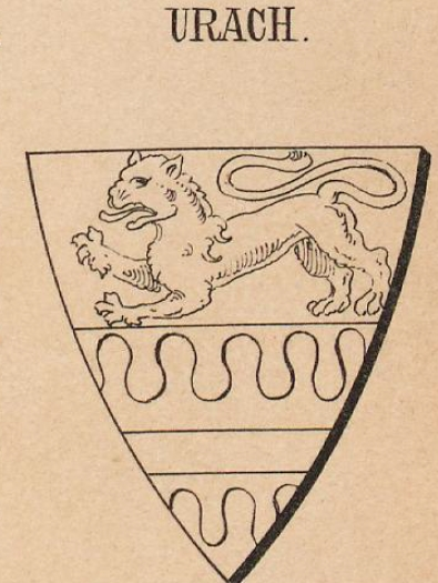 Urach Coat of Arms / Family Crest 1